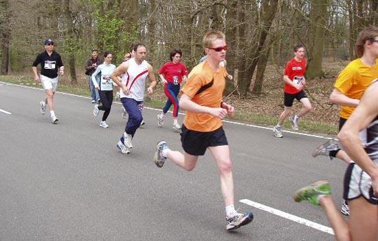 halve marathon rennen